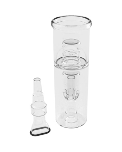 The Water Bong to AirVape X cools down the vapor significantly